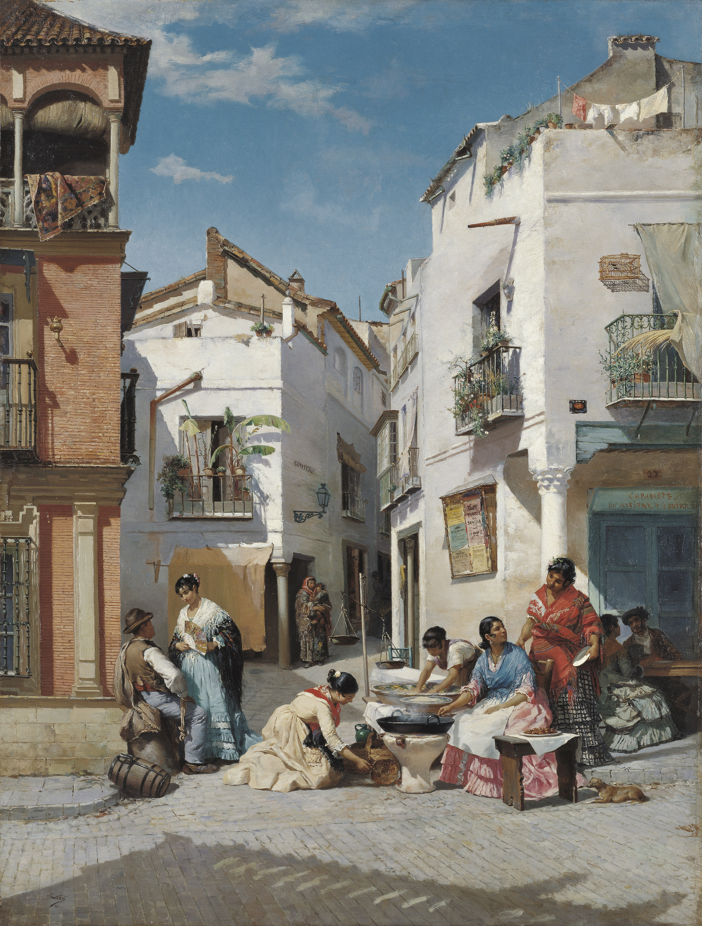 Rosquilla Sellers in a Corner of Seville
