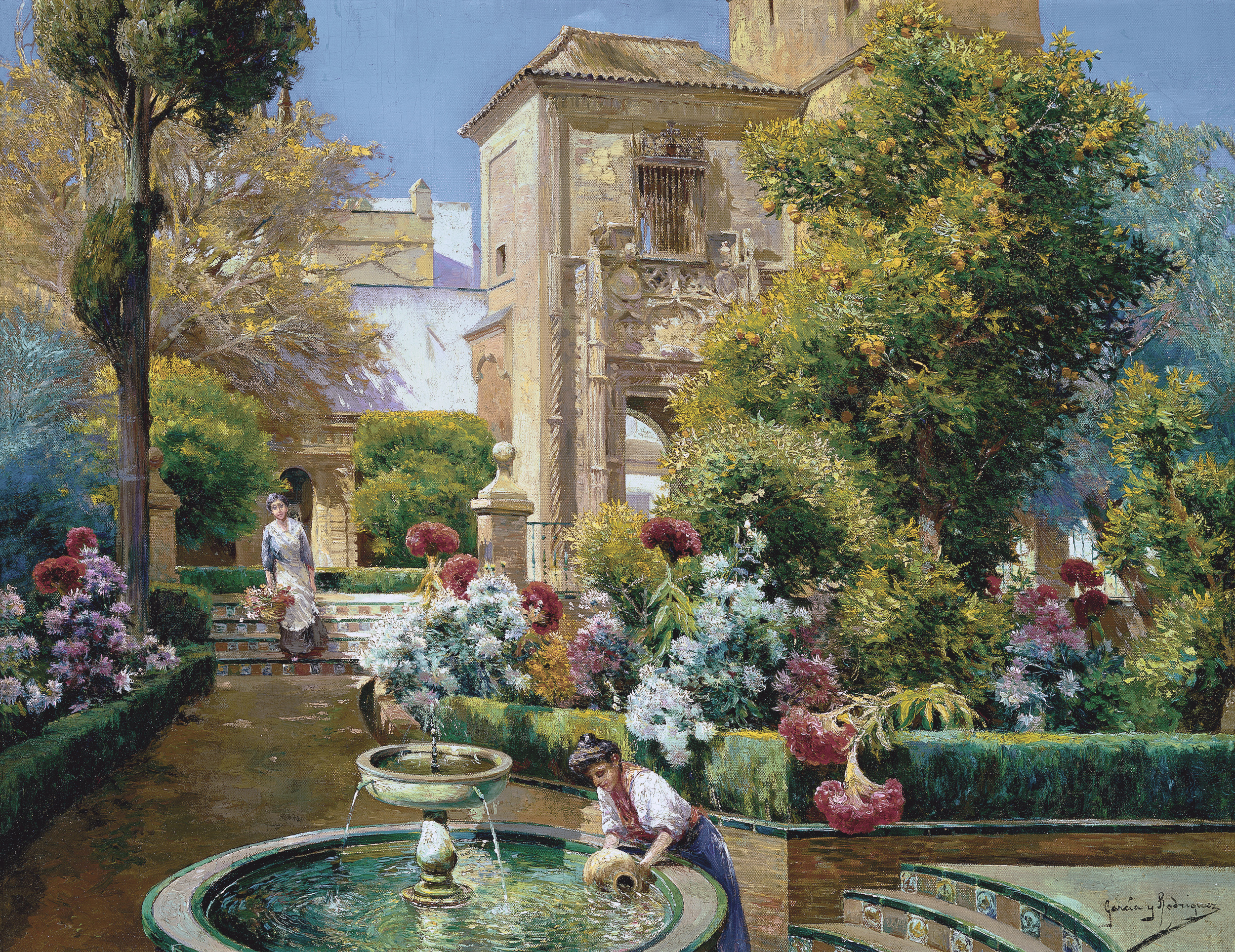 Jardines del alc zar sevilla museo carmen thyssen m laga for Jardines del eden sevilla