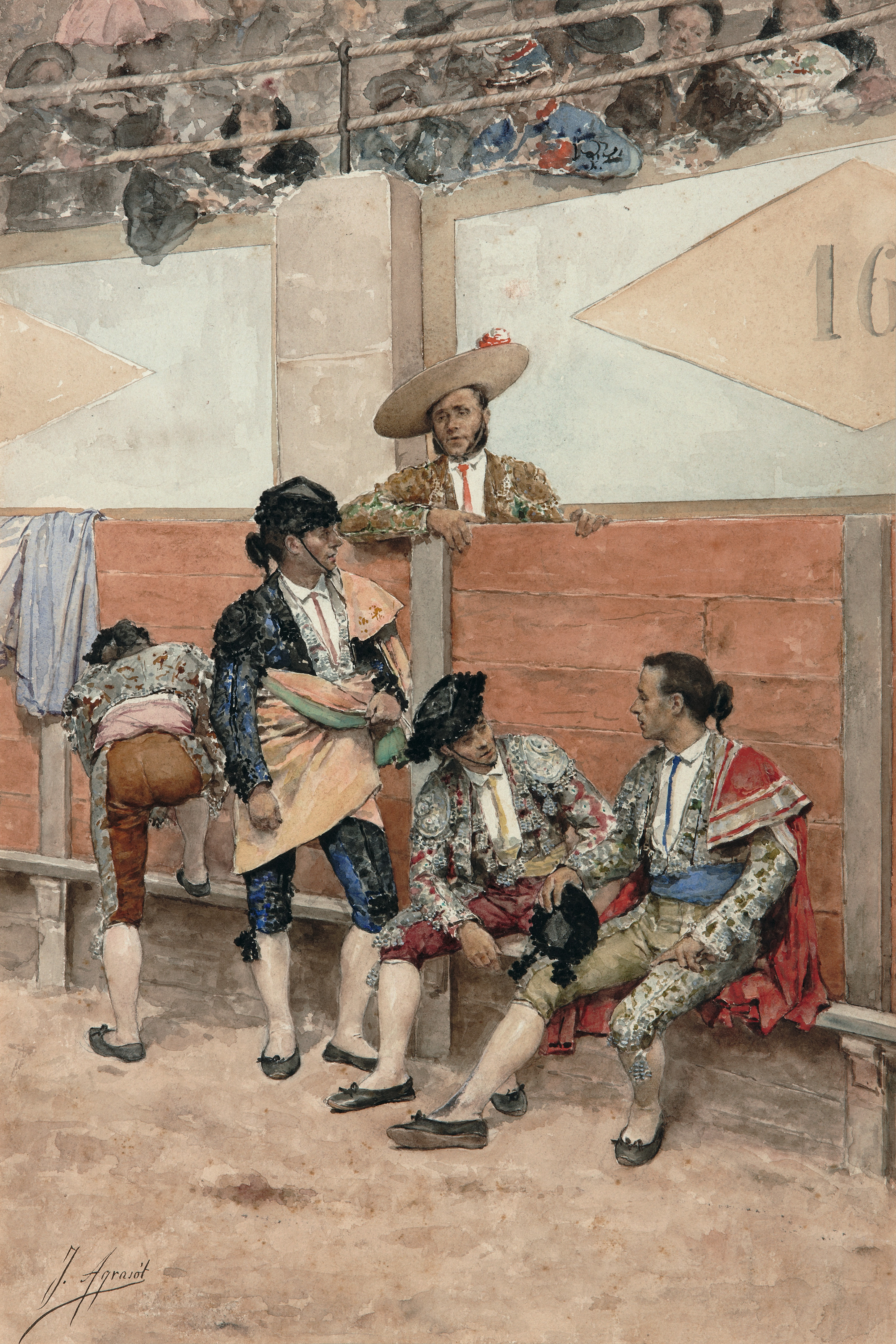 A Rest During the Bullfight