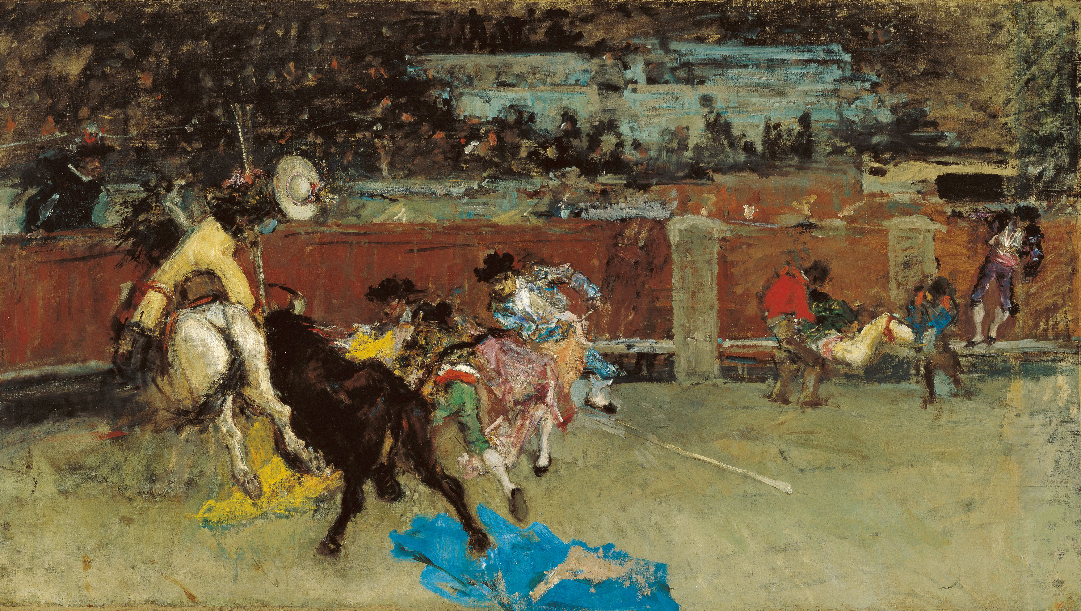 Bullfight. Wounded Picador