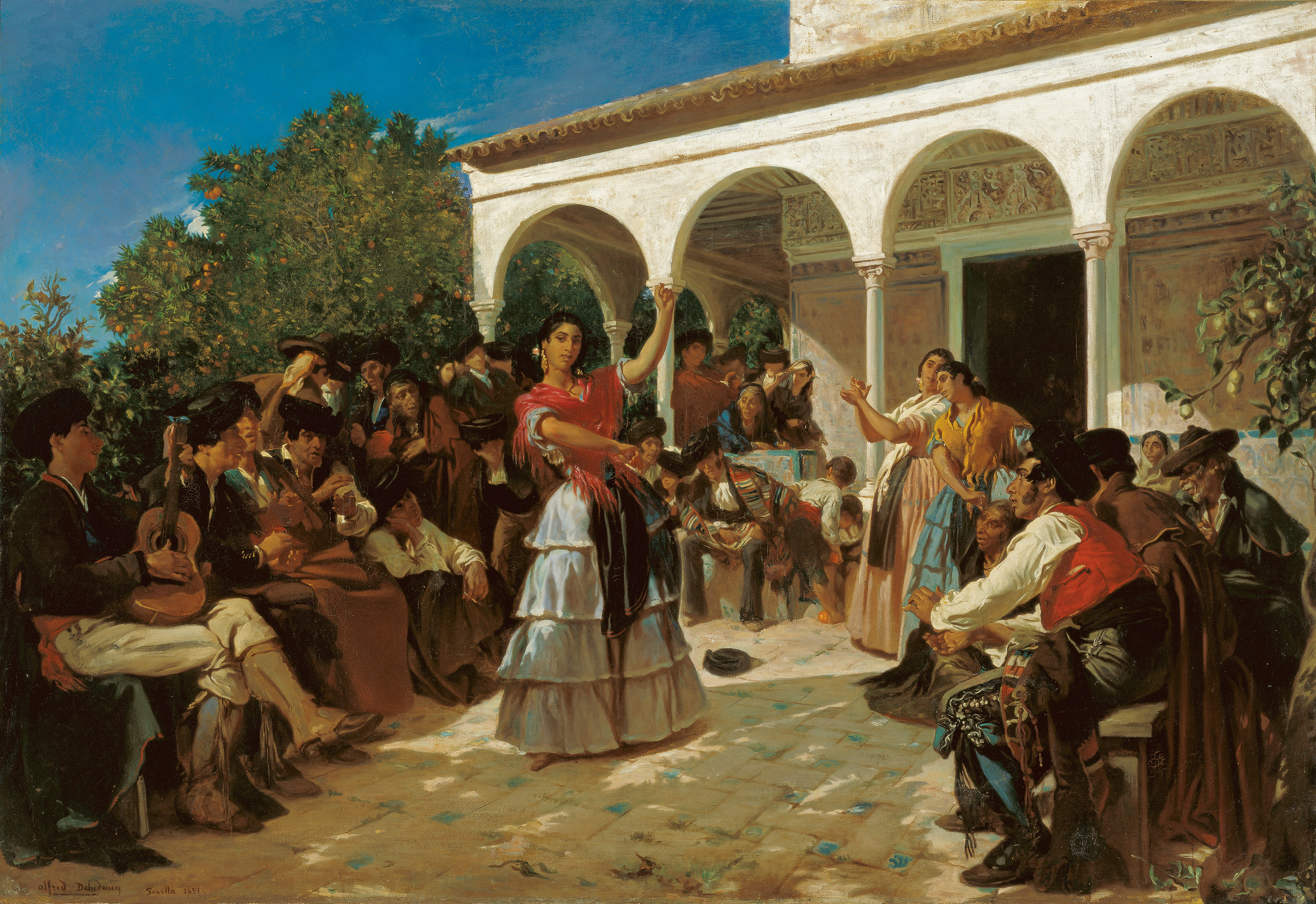 A Gypsy Dance in the Gardens of the Alcázar, in front of Charles V Pavilion