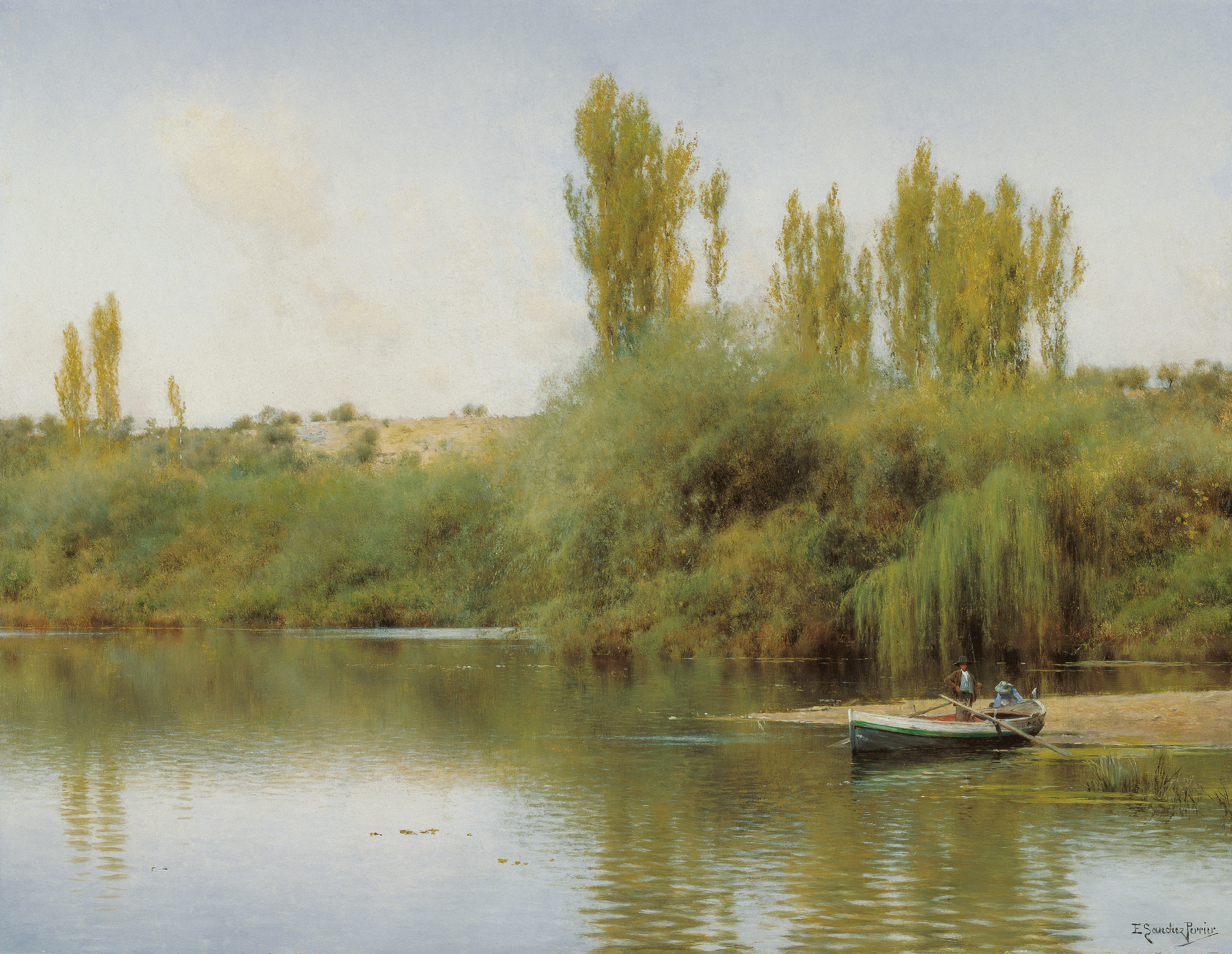 On the Banks of the Guadaíra with a boat