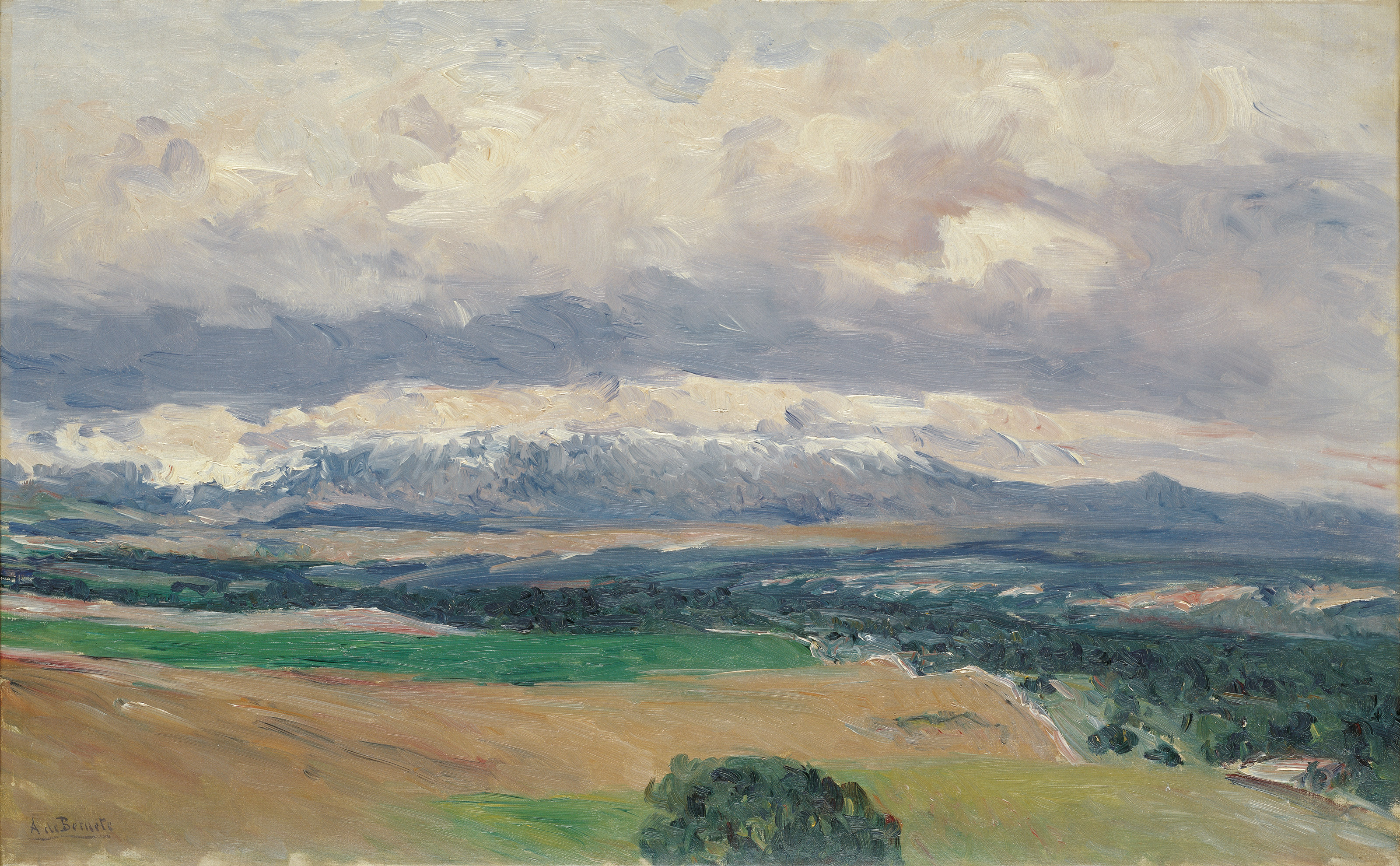 View of the Sierra de Guadarrama from El Plantío