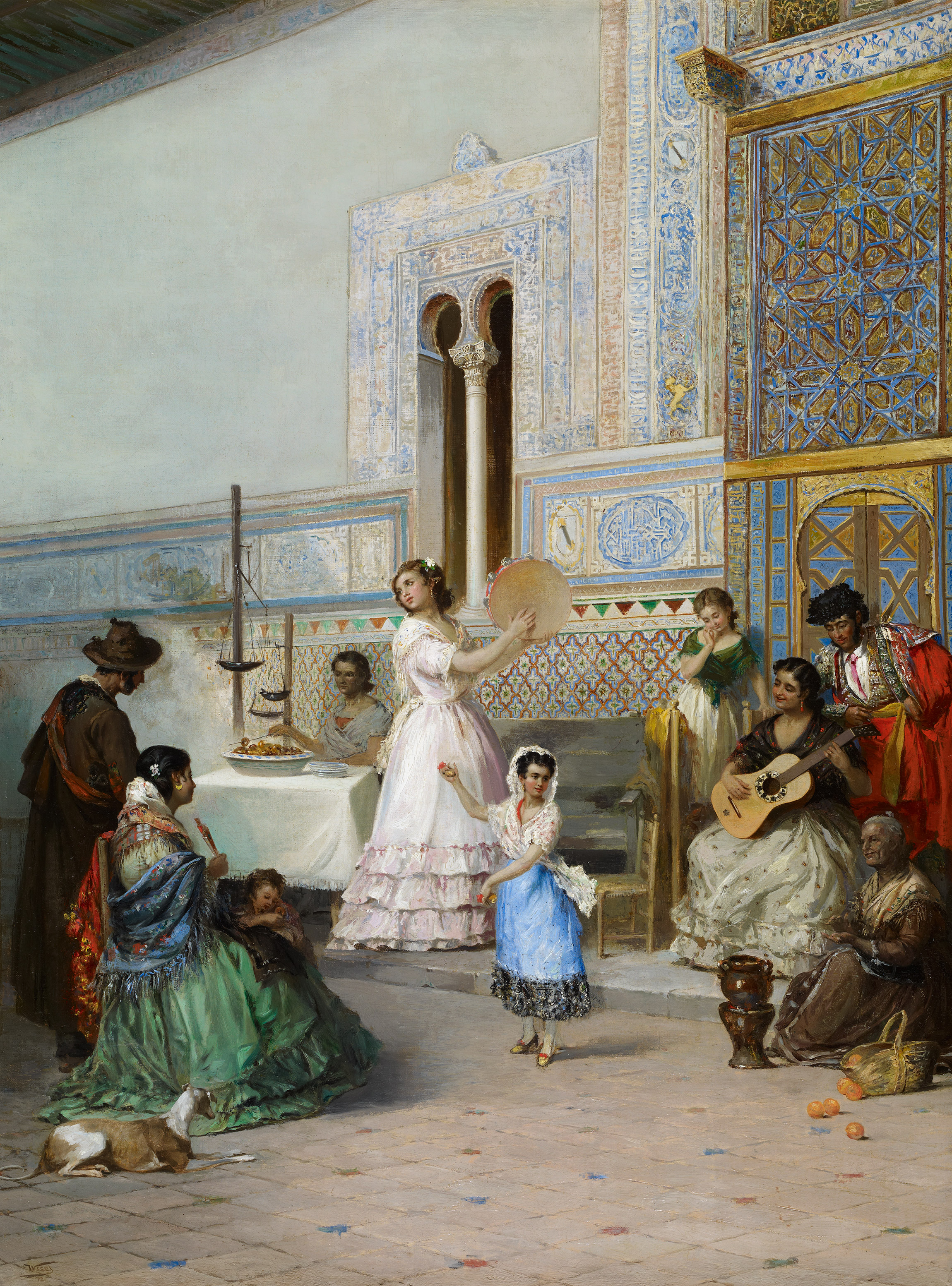 Genre Scene at the Alcázar of Seville