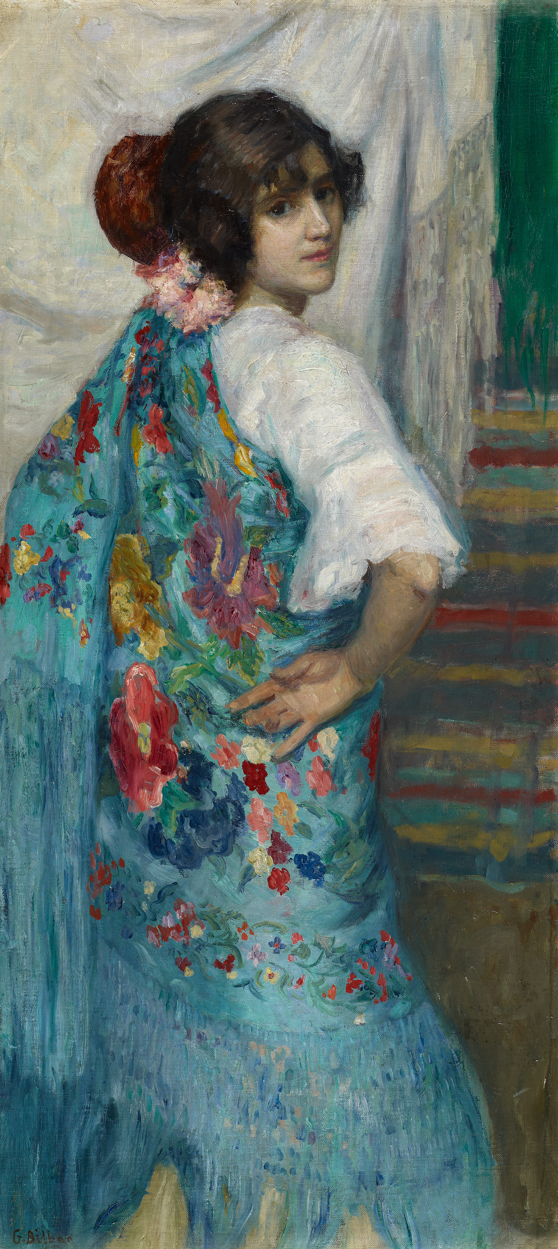 A Girl with Shawl