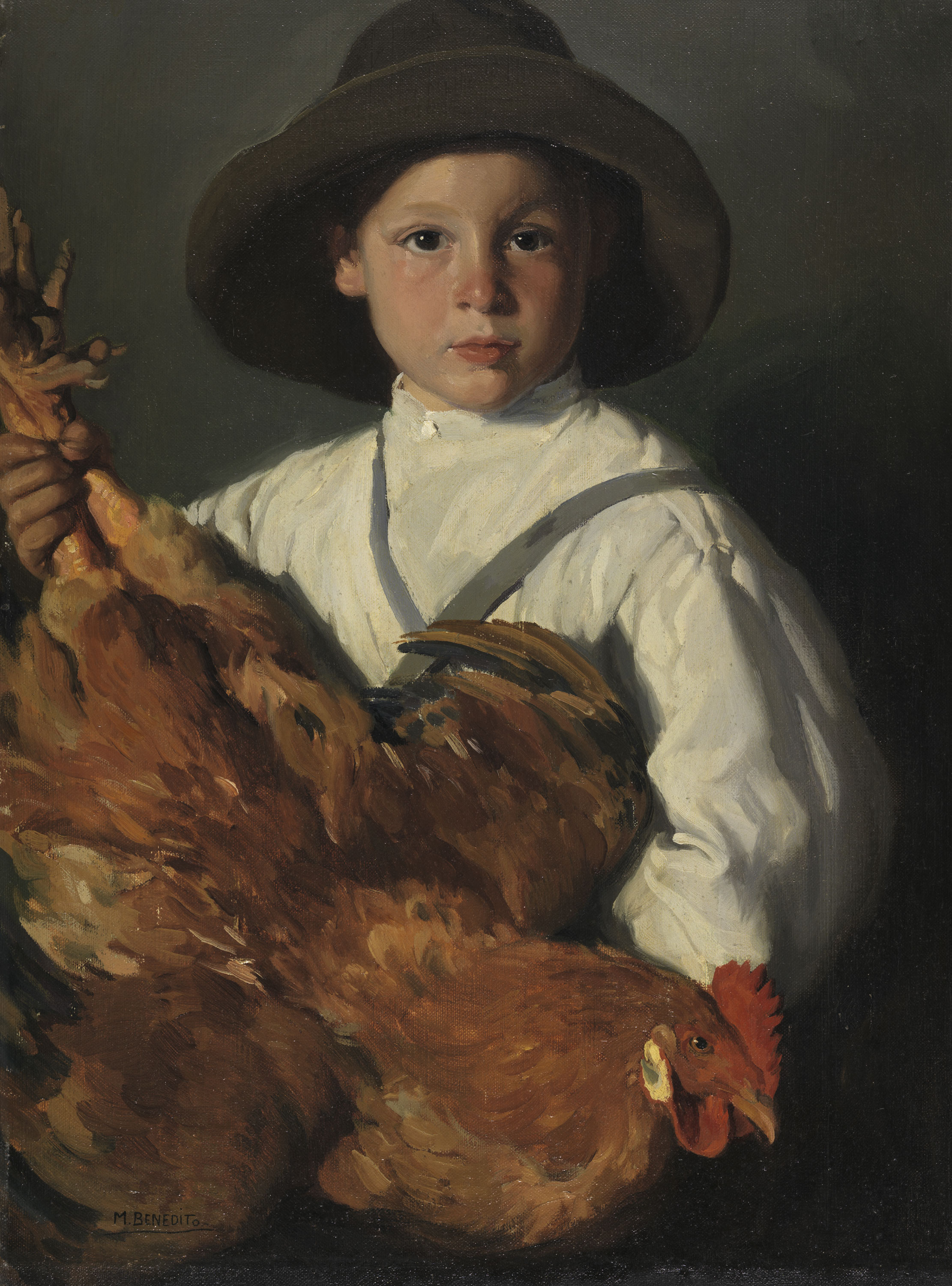 Boy with a Hen