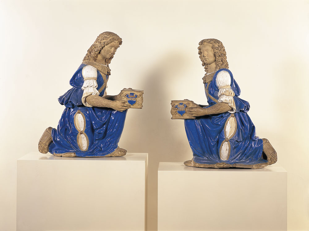 Two Candelabrum-Bearing Angels